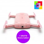 Pink Elfie selfie drone with camera + FREE extra battery